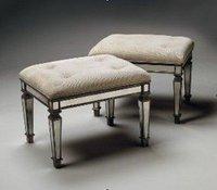 MR-401052 vanity stool, glass mirrored chair, sofa stool,ottoman