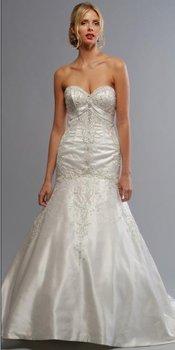 2012 modern hot wholesale free shipping  new design lustrous satin mermaid long train bridal wedding dress W0144