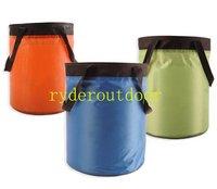 (Free Shipping) 10L Foldable Portable PVC Tarpaulin fishing Bucket