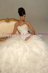 2011 modest bead crystal embellish bridal wedding gown(China (Mainland))