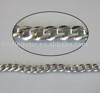 FREE SHIPPING 4 Meters flat curb metal chain 4.7mm M18683
