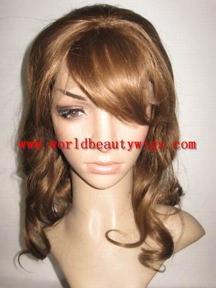 (Free shipping+top quality) fashionable stock synthetic lace front wigs no tangle shedding free(China (Mainland))