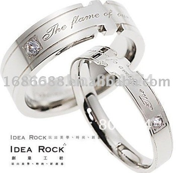 super deal  fashion Lovers'rings inlaid CZ diamond  ring forever love never fade free shipping  128