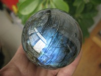 Natural labradorite Quartz Ball  2.67 Inch  Crystal Sphere Orb Healing+ Free Shipping