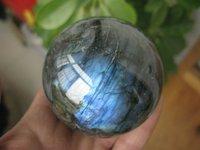 Natural labradorite Quartz Ball  2.67 Inch  Crystal Sphere Orb Healing+ Free Shipping