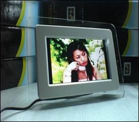 7 inch digital photo frame, Supports SD, MMC, MS cards and USB devices(China (Mainland))
