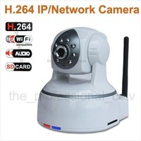 Free Shipping  h.264 720P MegaPixel HD Wireless IP Camera with Pan/Tilt SD Card Slot and IR Cut 720p(1280x720)