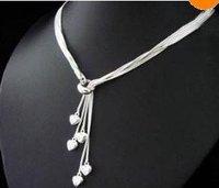 Big seller Women's 5-heart pendant necklace in 925 sterling silver