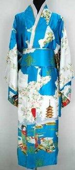 New long Japanese Kimono with  Junoesque Vintage