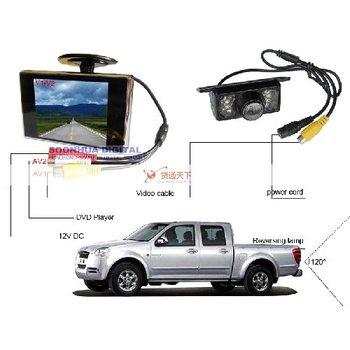 """3.5"""" TFT LCD Monitor & Car Night Vision IR Rear Camera"""