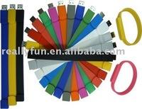 2GB wristband usb flash disk, wrist-band USB,silicone wristband usb flash drive
