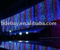 FREE SHIPPING! 6X3M 600 colorful LED curtain light for Christmas or wedding or party