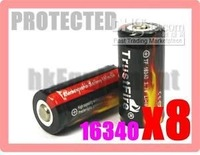- /Retail Cheap New Trustfire Rechargeable 16340 3.7v Protected Battery x8