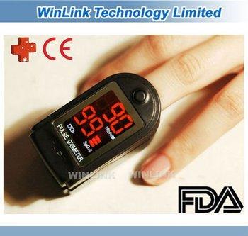 Free Shipping LED Digital finger fingertip pulse Oximeter/ Oxymeter CE and FDA approval
