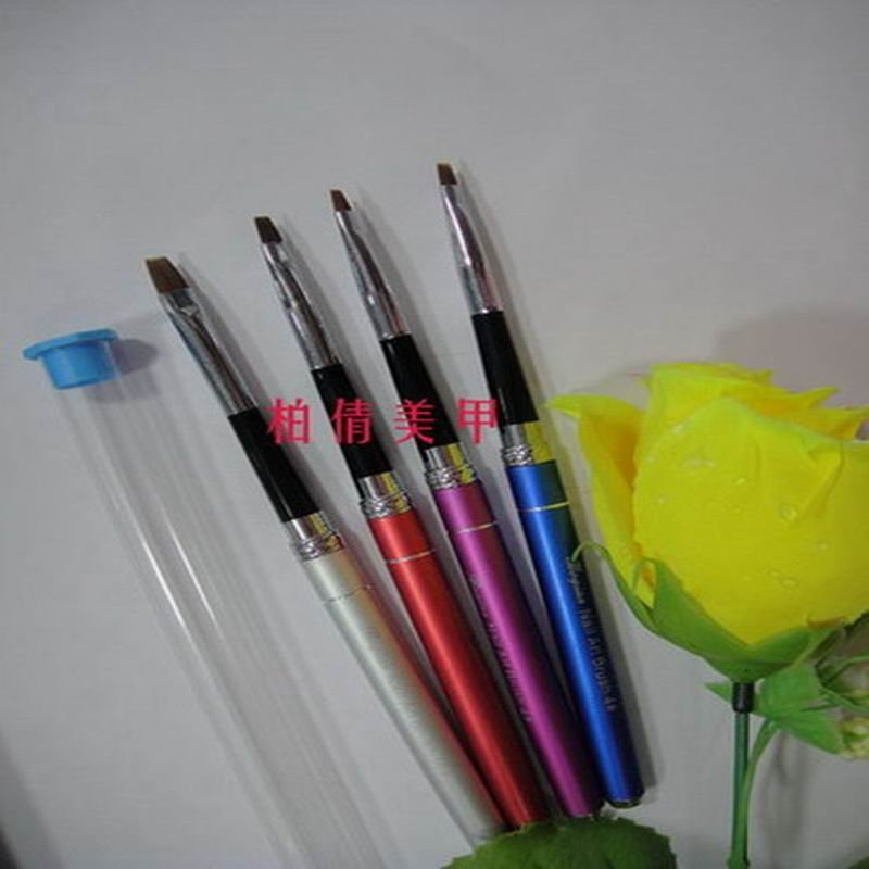 New Arrival Flexible #8Professional Metal handle Gel brush ,different sizes available(China (Mainland))
