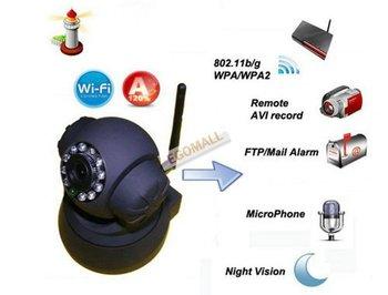 UPDATE VERSION Wireless IP WiFi Internet Pan Tilt PTZ Dual Audio Camera Cam,IP Cameras