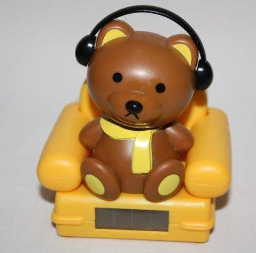 Music Sofa Bear / Cat, Solar Toys, solar baby, Shaking his Doll, Car Accessories Free Shipping(China (Mainland))