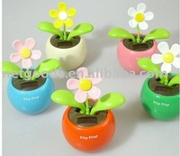 Apple flower Sun Flower Flip Flap Solar Apple Flower car's decorations