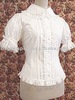 Cotton White Short Sleeves Lace Ruffles Cotton Lolita Blouse dropship free shipping