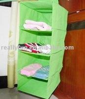 four-layer hanging storage bag. hanging closet/shelf/container.hanging storage organizer