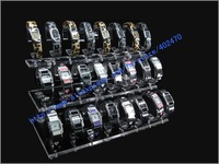 WHOLESALE FREE SHIPPING ACRYLIC JEWELRY DISPLAY STAND FOR 24 BRACELETS Watch Holder Showcase