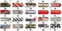 Наклейки для ногтей 11 different style available Butterfly Bow Shape3D Nail Art Temporary Tattoo sticker 100sheets/lot XF1210-1220