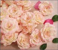 hot sell:Beautiful Artificial Flower Rose Head,pink rose head,silk flower