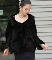 (#11-0109)free shipping fashion women's 100% genuine knitted mink fur coat/fur scarf/fur vest/retail/wholesale
