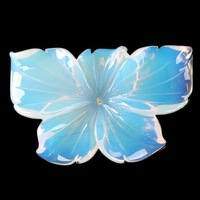 New Opal Hand Carved Flower Pendant Bead Wholesale 52X35X5mm
