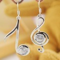 korea style earring, silver color earring , alloy earring