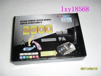 2000MW Best Seller $ HOT model,wifi decoder, adaptor,wifly city,wireless wifi receiver,wireless LAN card,free shipping