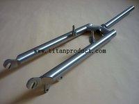 Titanium MTB Fork V  Brake + Disc Brake