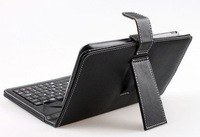 "wholesale 8"" keyboard case Leather case with usb keyboard bracket for apad ebook mid Tablet PC &Free Shipping"