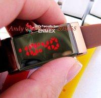 Free shipping,2011 LED Watch,mirrror watch,make up watch,100pcs/lot