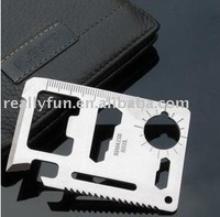 Big size/ Pocket Survival Tool 11 Function Card Knife, Outdoor Survival Multifunction knife