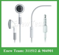 Free shipping by dhl Earphone Headset with Volume Control & Mic for iPhone 4 4S