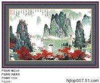 beautiful scenery Cross-Stitch Lijiang river cross stitch KITS