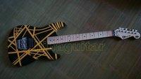 Hot sales kramer EVH wolfgang 5150 electric gutiar black and yellow  free shipping