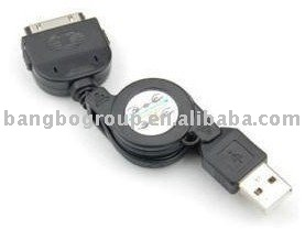 Retractable USB Sync Data Cable For iPod iPhone 3G,3GS(China (Mainland))