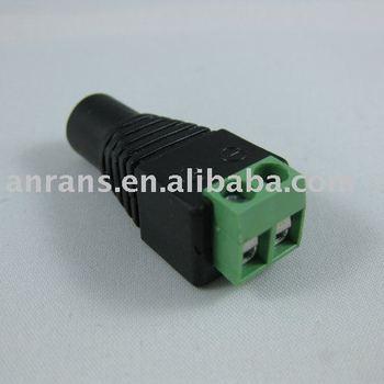 100pcs 5.5 x 2.1mm CCTV DC Power Female Jack Connector