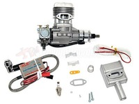 DLE Engines DLE-20 20cc RC Model Gas Engine with Muffler and Electronic Ignition
