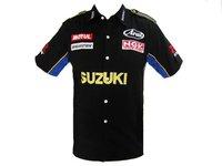 Pit Crew SHIRT SUZUKI GSXR MOTO RACING BLACK SIZE L
