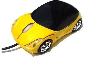 30pcs/Lot Car Shape USB 2.0 3D Optical Mouse Mice for PC/Laptop (Red, White, Yellow,Blue,Black,Silver)