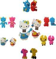 Free shipping, 1gb/2gb/4gb/8gb/16gb cartoon USB flash drive (MOQ 30pcs)