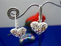 New Free shipping 925 sterling silver Charm jewelry Fashion 925 Earring E05