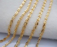 Wholesale 5pcs Super deal New arrival fashion Jewelry vacuum plated 24K gold bracelet 18CM Super price !Free Shipping ZKN3