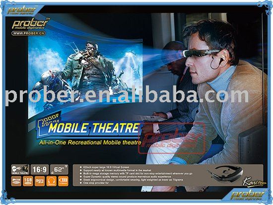 wireless video glasses support memory card(China (Mainland))