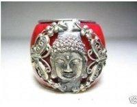 Old Rare tibet jade buddha men's thumb ring  Free shipping