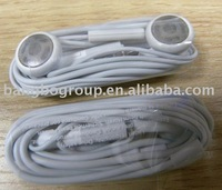 Free shipping 120pcs earphone headset with mic for iphone ipod