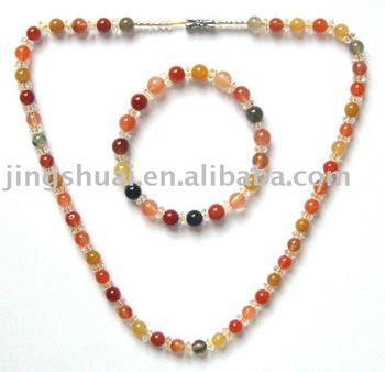 Brazil natural high-quality goods fu lu shou bracelet&necklace\Crystal fully moist happiness cobolli gigli longevity
